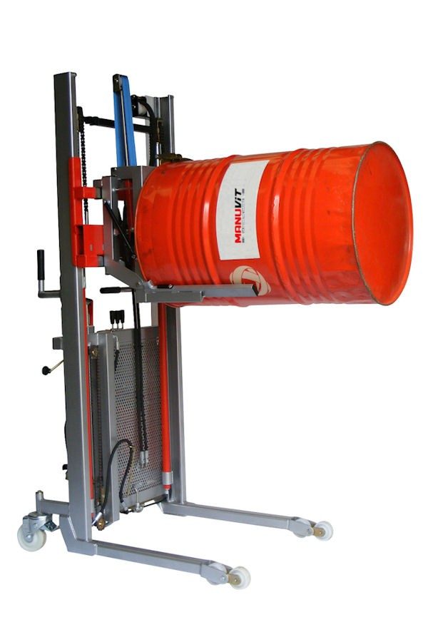 Drum handler equipped on a LEV600 stacker