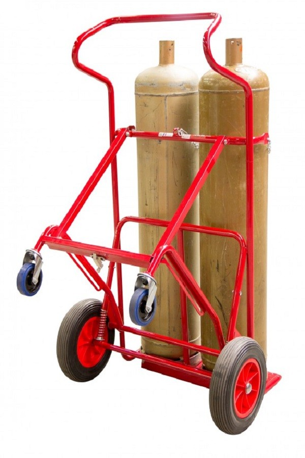 250  kg 2 Bottle tippable sack barrow with rettractable kickstand