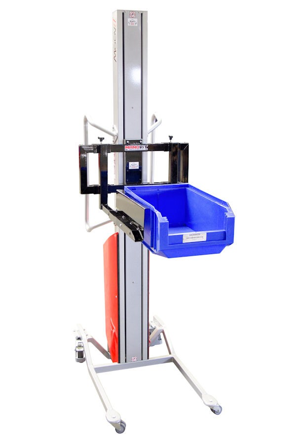 Monomast semi-electric Stacker in ALU and STAINLESS versions