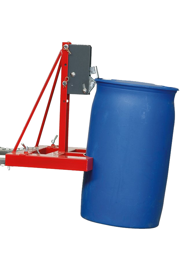 Automatic  clamp  for  fully  opening  plastic  drums