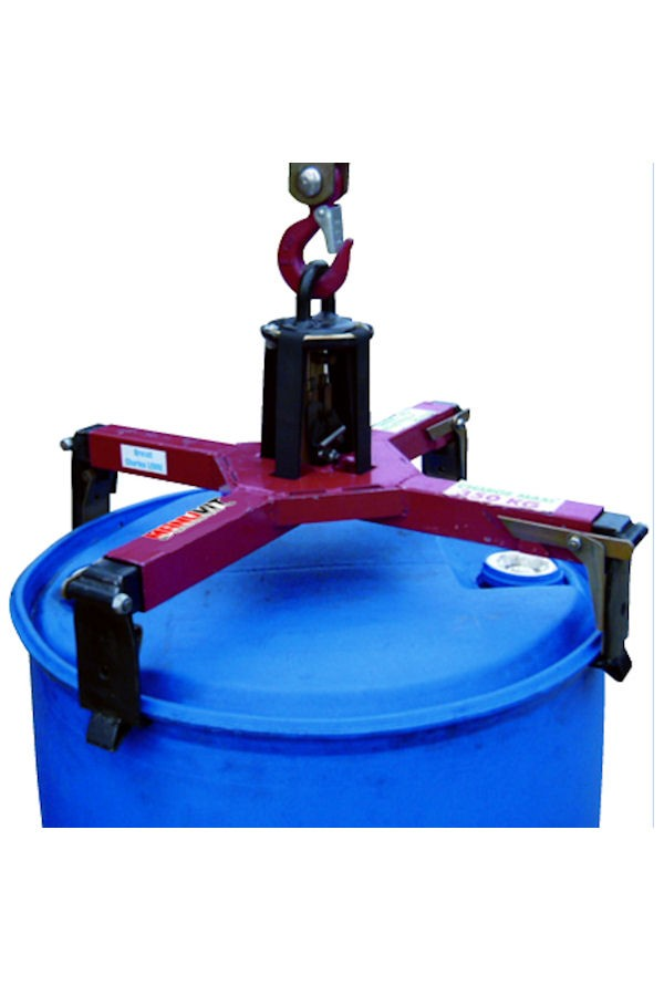 4 Point automatic clamp for rimmed metal and plastic drums