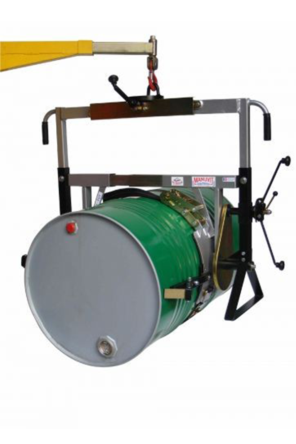 Rotator for 350 kg rimmed metal and plastic drums