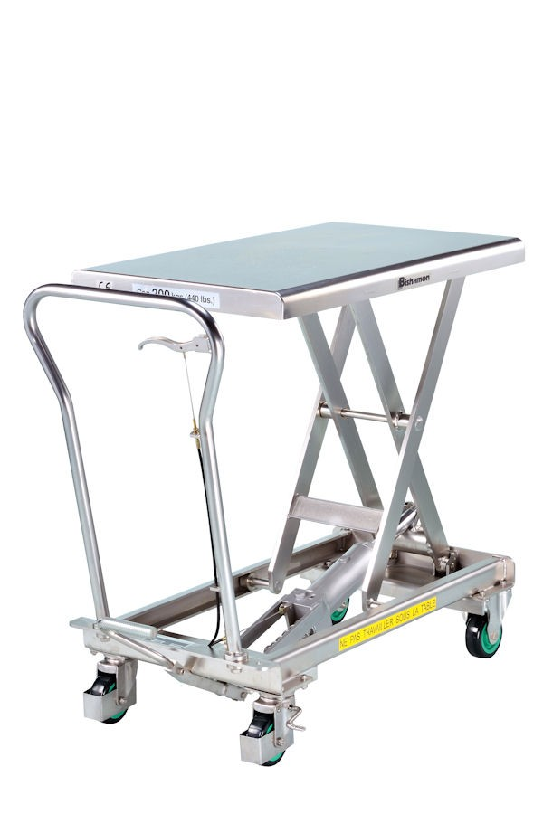 100-200-400 Kg Bishamon stainless steel elevator tables