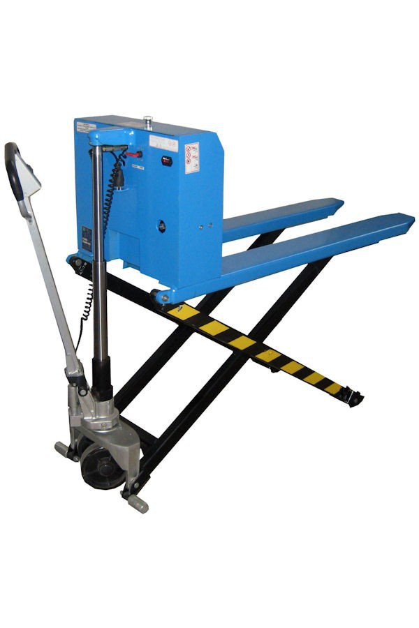1  ton electric high lift pallet stacker
