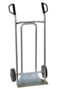 250 Kg stainless steel sack barrow with curved carriage