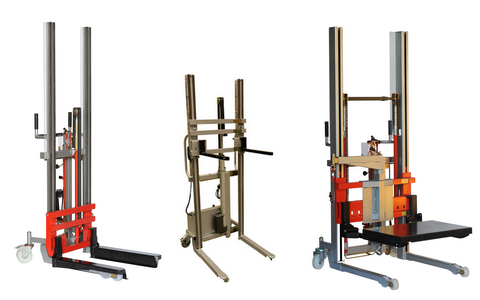 Variable geometry stackers
